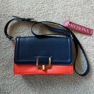 NWT Merona Adjustable Crossbody Navy Purse